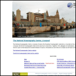 Screen shot of the Proudman Oceanographic Laboratory website.