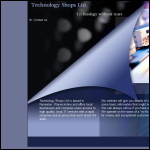 Screen shot of the Technology Shops Ltd website.
