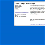 Screen shot of the TeeJet North Europe website.