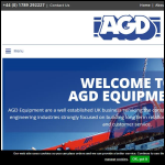Screen shot of the AGD Equipment Ltd website.