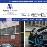 Screen shot of the Ashton & Moore Ltd website.
