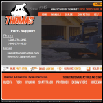 Screen shot of the Thomas Equpiment website.