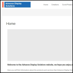 Screen shot of the Advance Display Solutions Ltd website.