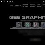 Screen shot of the Gee Graphite Ltd website.