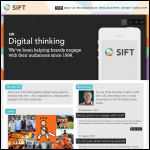 Screen shot of the Sift website.
