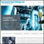 Screen shot of the Terraspan Pipe Fittings Ltd website.