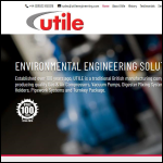 Screen shot of the The Utile Engineering Co. Ltd website.