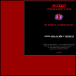 Screen shot of the Mikado Computer Support & Tuition website.