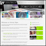 Screen shot of the Victory Signs (Newcastle) Ltd website.