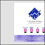 Screen shot of the CheckleyFisher Computing Ltd website.