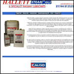 Screen shot of the Hallet Oils website.