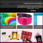 Screen shot of the Cole Fabrics plc website.