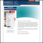 Screen shot of the Sorrell L.M & Co website.
