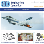 Screen shot of the Engineering Dynamics (Southern) Ltd website.