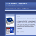 Screen shot of the Environmental Test Ltd website.