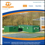 Screen shot of the Morgan Marine Ltd website.