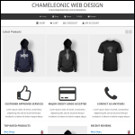 Screen shot of the Chameleonic Limited website.