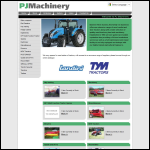 Screen shot of the P J Machinery website.