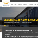 Screen shot of the Kingsley Plastics Ltd website.