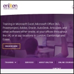 Screen shot of the Enliten IT Ltd website.