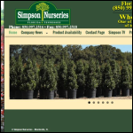Screen shot of the Simpson Nursery website.