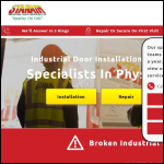 Screen shot of the Stanair Industrial Door Services Ltd website.