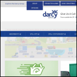 Screen shot of the Darcy Spillcare Manufacture website.