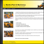 Screen shot of the L Wardle (Plant & Machinery) website.