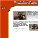 Screen shot of the Alexander Duncan (Aberdeen) Ltd website.