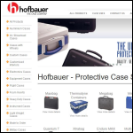 Screen shot of the Hofbauer (UK) Ltd website.