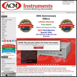 Screen shot of the ACM Instruments website.