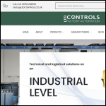 Screen shot of the LED Controls Ltd website.
