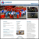 Screen shot of the Cansco Greig Engineering Ltd website.