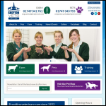 Screen shot of the Shepton Veterinary Group website.