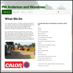 Screen shot of the Anderson & Woodman Salt Merchants website.