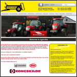 Screen shot of the AgriHire Ltd website.