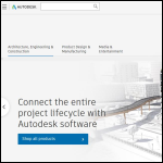 Screen shot of the Autodesk website.