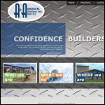Screen shot of the A & A Builders website.