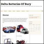 Screen shot of the Delta Batteries of Bury website.
