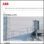 Screen shot of the Emergi-Lite Safety Systems Ltd website.