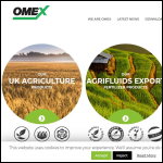 Screen shot of the OMEX Agriculture Ltd website.