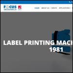Screen shot of the Focus Label Machinery Ltd website.
