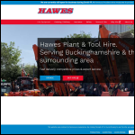 Screen shot of the Hawes Plant Hire website.