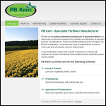 Screen shot of the PB Kent website.