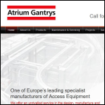 Screen shot of the Atrium Gantrys Maintenance Ltd website.