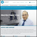 Screen shot of the Association of Optometrists website.