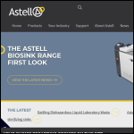 Screen shot of the Astell Scientific Ltd website.