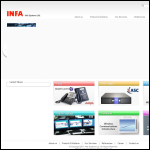 Screen shot of the Infa Communications website.