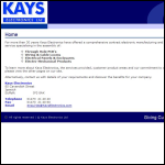 Screen shot of the Kays Electronics Ltd website.
