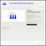 Screen shot of the Stamfordham Bees website.